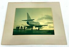 Large Us Navy A-4 Skyhawk Aircraft Matted Photo