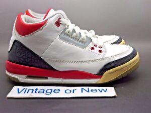 Nike Air Jordan III 3 Fire Red Retro GS 2007 sz 5.5Y