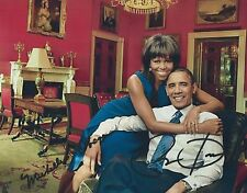 Michelle Obama & President Barack Obama (Candid) RARE DUEL-SIGNED RP 8x10 WOW!!!