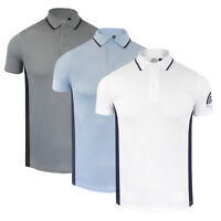 Mens Sports Polo Shirt Collared Short Sleeve T Shirt Designer Brave Soul