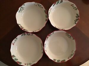 """New In The Box,Better Homes and Gardens Heritage Dinner Bowls 8 1/2"""", Set of 4"""
