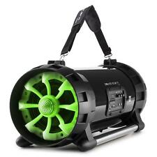 Reproductor Boombox Portátil 40W Bluetooth Aux USB Interfaz NFC MP3 Luz LED