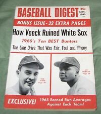 Vintage BASEBALL DIGEST Sept.1965 How Veeck Ruined The White Sox + Joe Morgan