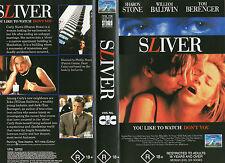 SLIVER - Sharon Stone William Baldwin - VHS - NEW - Never played!! - Very rare!!