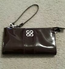 Coach Julia Patent Leather Zippy Wallet ~ Dark Brown Looks New