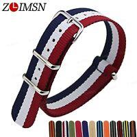 Sport Ballistic Durable Military Nylon Wrist Watch Band Strap 18 20 22 24mm 3 R