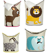 3 Sprouts Laundry Hamper Kids Bedroom Organizer - Optional Animals