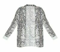 Pretty Little Thing Women's Snake Print Blazer Size 10 New With Tags