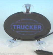 24V TRUCKER BLUE LIGHT SHIELD SIGN  sucker mount window sign