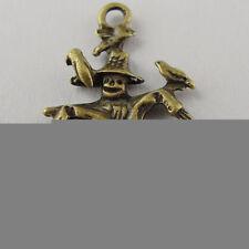 60pcs Antiqued Bronze Vintage Alloy Scarecrow Circus Pendant Charms 06743