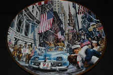 FRANKLIN MINT COLLECTOR PLATE VJ DAY  BY WILLIAM TEODECKI-NEW