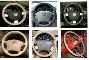 Mazda Leather Steering Wheel Cover Wheelskins - Custom Fit You Pick the Color