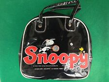 BORSA SNOOPY by GIOVANNI TRIMBOLI , Vintage VERNICE NERO bag - NUOVO !!!