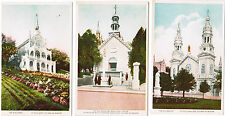 Ste (Saint) Anne de Beaupre, Quebec, Basilica, Old Church 3 Unused Postcards