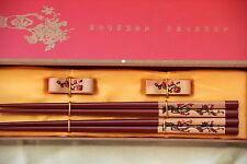 2 Baguettes Chinoises-Chopsticks-Kuai Zi-Junquillos-Stäbchen-bacchette-fleurs