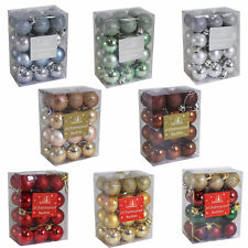 Christmas Decoration- 24 Pack Mini Baubles - 30mm - Shatterproof - Choose Colour