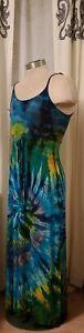 Tye Dye Spandex Blend Maxi Dress