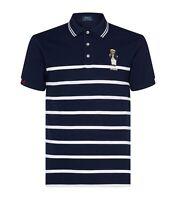 Polo Ralph Lauren Nautical Bear Sailor Striped Polo Shirt Navy NWT Men's L