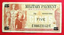 5 cents US military note # 588