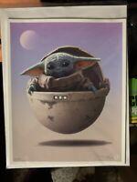 Mondo The Bounty Variant Print Rory Kurtz Ltd Ed Baby Yoda Mandalorian Star Wars