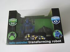 BlueHat Transforming Robot Radio Controlled Car with 49 MHz Frequency Blue New