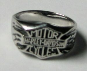 Harley Davidson Shield Ring - Stainless Steel - Size 12 -  NEW