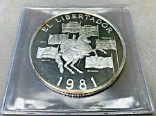 1981 Panama 20 Balboa EL Libertador Proof Coin