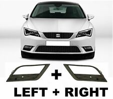 NEW SEAT LEON 2013-2016 Front Bumper Grille Fog Light Trim Bezel Set L+R Pair
