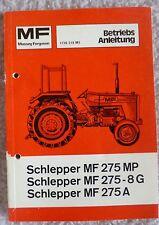 Massey Ferguson Schlepper 275 Betriebsanleitung