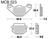 TRW Lucas mcb523si Forros de freno traseros para KAWASAKI KX 125 Año 86-88