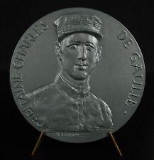 Médaille Charles De Gaulle Maison natale du fil de l'épée Wissant 1927 77mm 1975