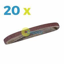 20 Sanding Sander Belts 13mm X 457mm 80 Grit Coarse Fits Power File Finger