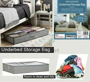 🔥Large Breathable Under Bed Wardrobe Storage Bag Clothes Duvet Zipped Tidy Home