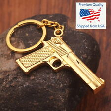 Gold Gun Keychain Shooting Game CF PUBG CS GO Weapon Desert Eagle Pistol Toy