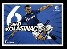 Sead Kolasinac Autogrammkarte FC Schalke 04 2016-17 Original Signiert+A 145762