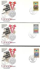 Canada 1974 3 First Day Covers Olympic Games In Montreal Semi-Postal