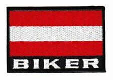 ac28 Flagge Österreich Biker Austria MC Kutte DIY Aufnäher Bügelbild Applikation