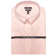 New Croft&Barrow Mens 100%Cotton Pink Stripes Button-Down Collar Dress Shirt $65