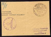 █ Postsache Absender Postamt MOLSHEIM du 25/02/43 █