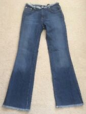 * NEED $ SALE * Express Distressed Frayed Flay Blue Jeans Denim 1/2 R
