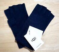 NWT UGG Women's Knit Fingerless Gloves, Navy Blue, One Size, 18108