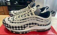 "RARE! NEW Nike Air Max 97 ""Flannel"" Plaid Light Cream (312834-201) Unworn 95"