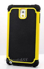 for samsung galaxy note III 3 triple 3 layer hybrid soft hard case black yellow