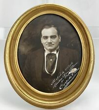 Enrico CARUSO (Tenor): Large Signed Oval Format MISHKIN Photograph (Opera)