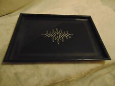 "Reed & Barton -Signed-Plastic Serving Tray - 15.5"" x 11"" - Etched Top"