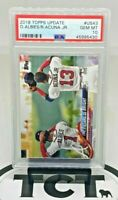 2018 Topps Update MLB Baseball Ozzie Albies Ronald Acuna Jr RC PSA 10 GEM Braves