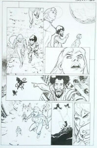 Stephane ROUX ~ Harley Quinn and Power Girl Original Art