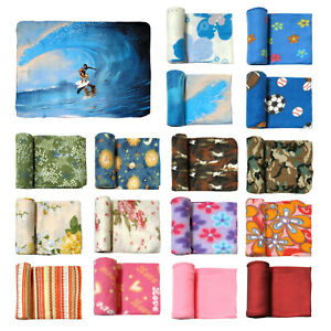 Assorted Printed Polar Fleece Sofa Lounge Throw Rug