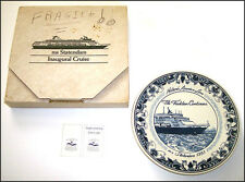 Holland America Line 1993 M.S.STATENDAM Inaugural Cruise Delft PLATE in box