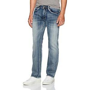 Buffalo David Bitton Men's Six-x Straight Fit Denim Jean (Indigo, 38X32)